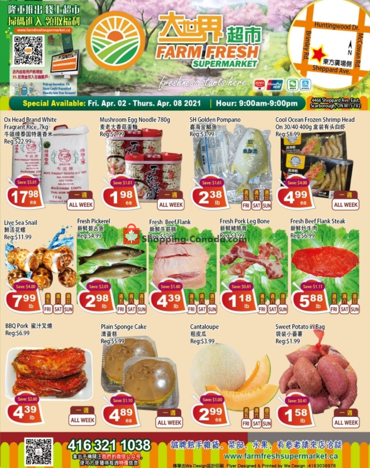 Flyer Farm Fresh Supermarkets Canada - from Friday April 2, 2021 to Thursday April 8, 2021