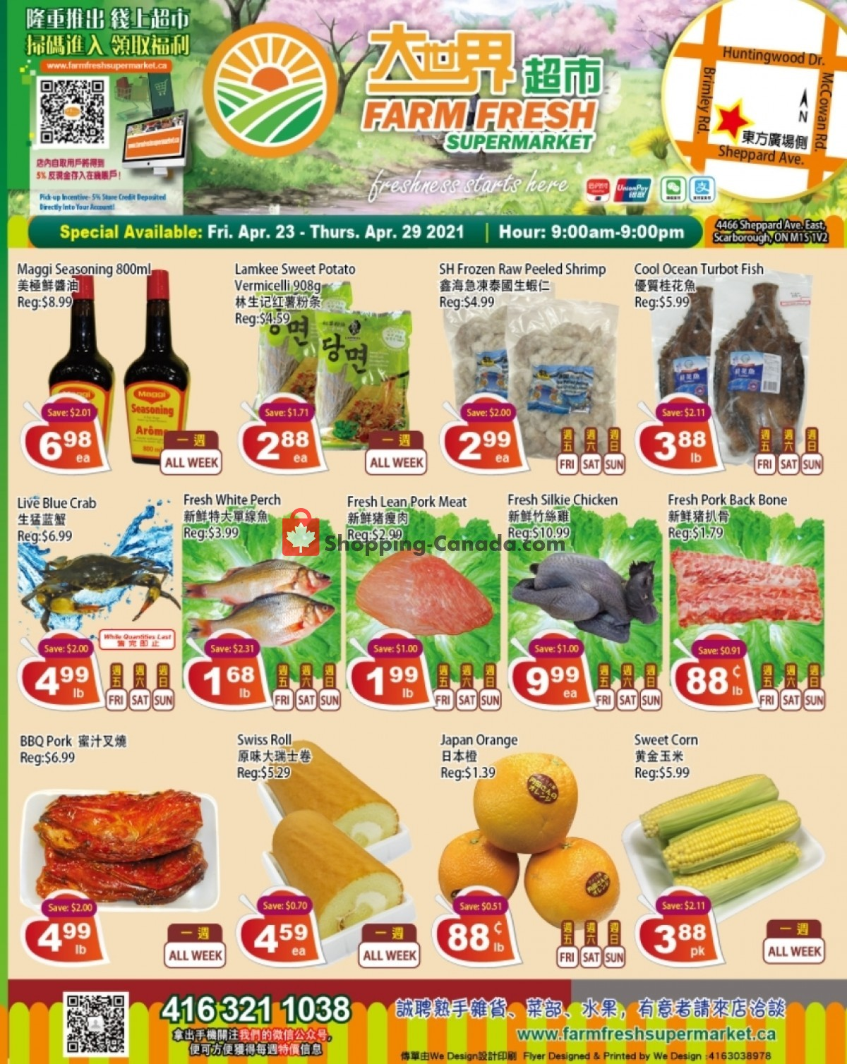 Flyer Farm Fresh Supermarkets Canada - from Friday April 23, 2021 to Thursday April 29, 2021