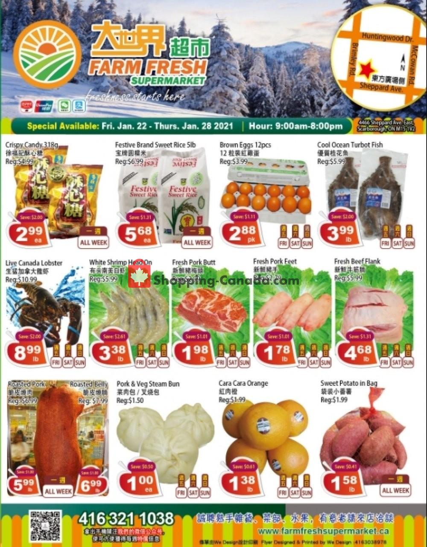 Flyer Farm Fresh Supermarkets Canada - from Friday January 22, 2021 to Thursday January 28, 2021