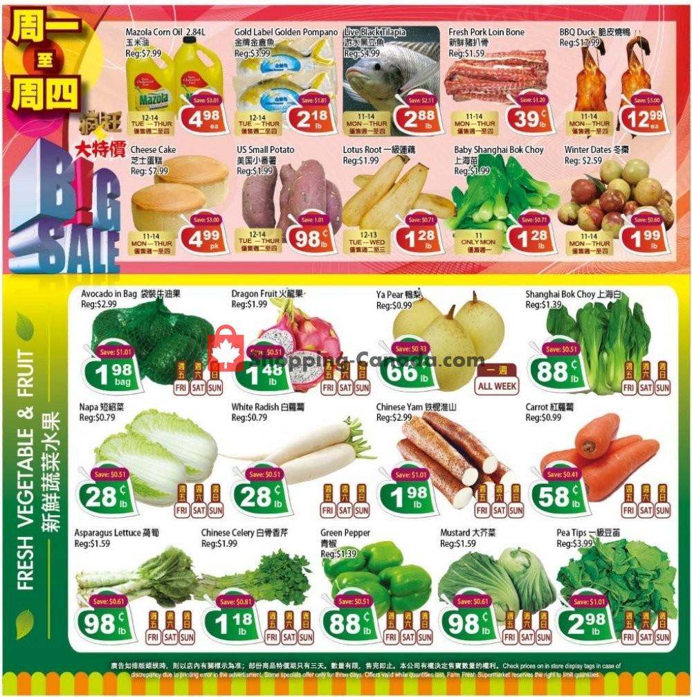 Flyer Farm Fresh Supermarkets Canada - from Friday November 8, 2019 to Thursday November 14, 2019