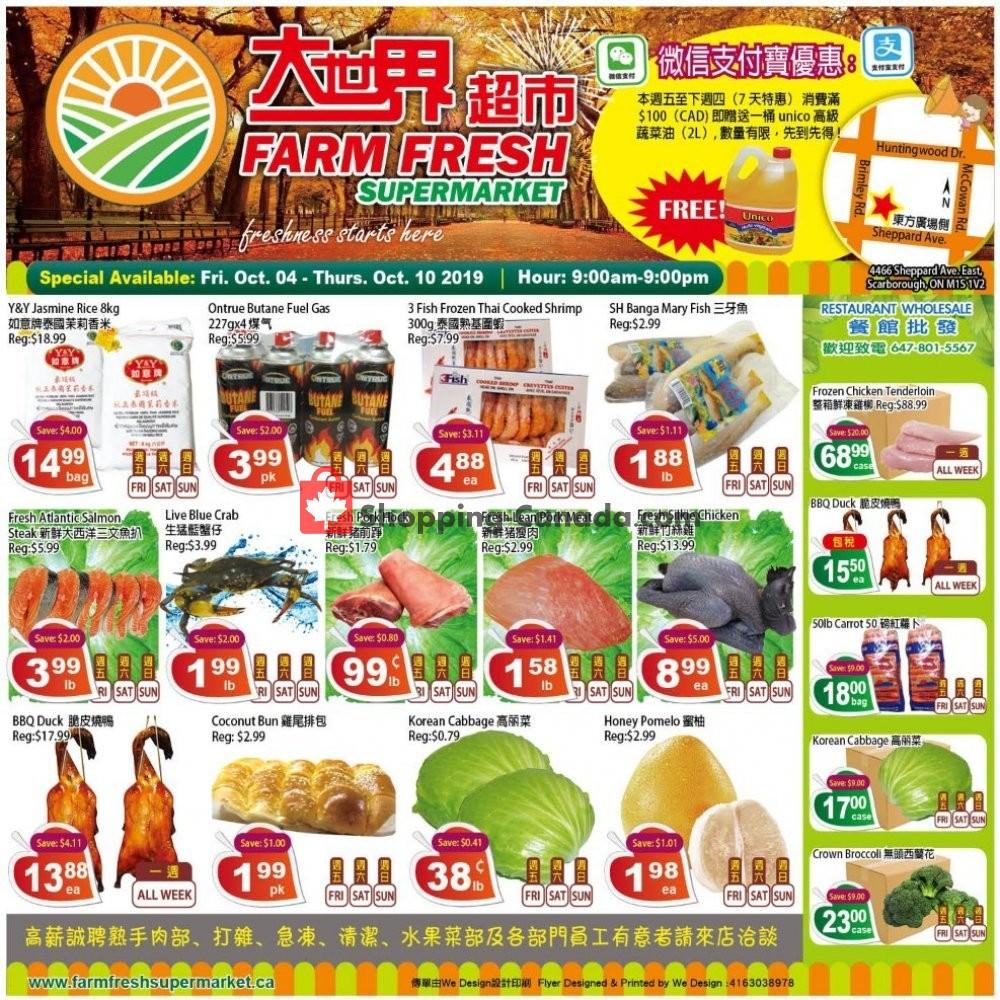 Flyer Farm Fresh Supermarkets Canada - from Friday October 4, 2019 to Thursday October 10, 2019