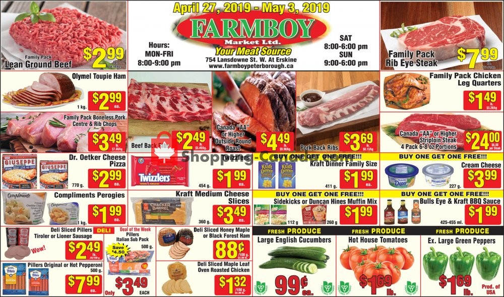 Flyer Farmboy Peterborough Canada - from Saturday April 27, 2019 to Friday May 3, 2019