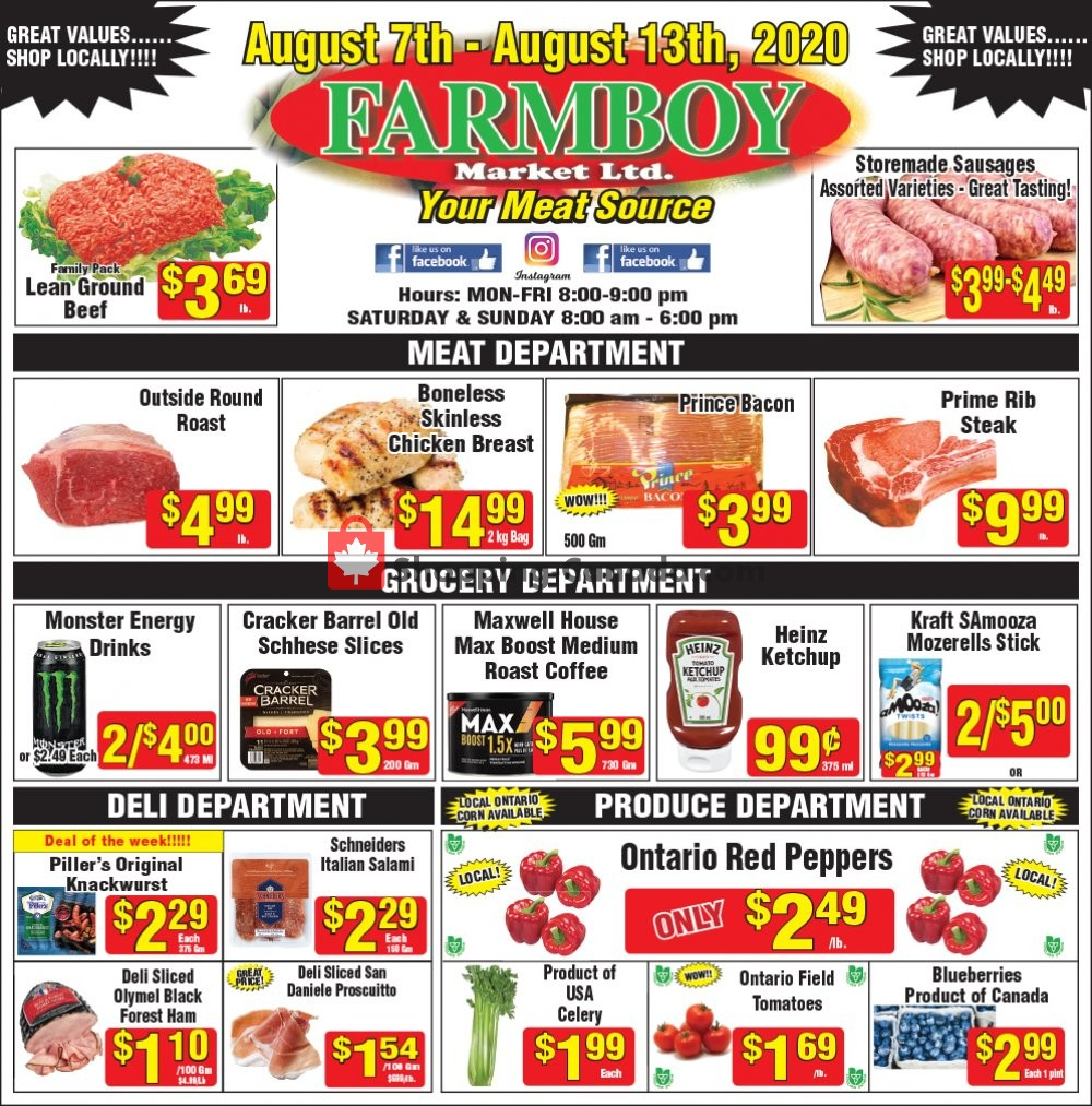 Flyer Farmboy Peterborough Canada - from Friday August 7, 2020 to Thursday August 13, 2020