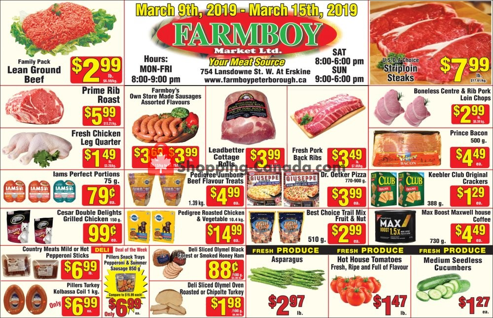 Flyer Farmboy Peterborough Canada - from Saturday March 9, 2019 to Friday March 15, 2019