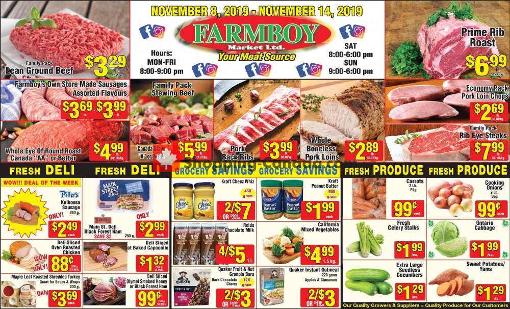 Flyer Farmboy Peterborough Canada - from Friday November 8, 2019 to Thursday November 14, 2019