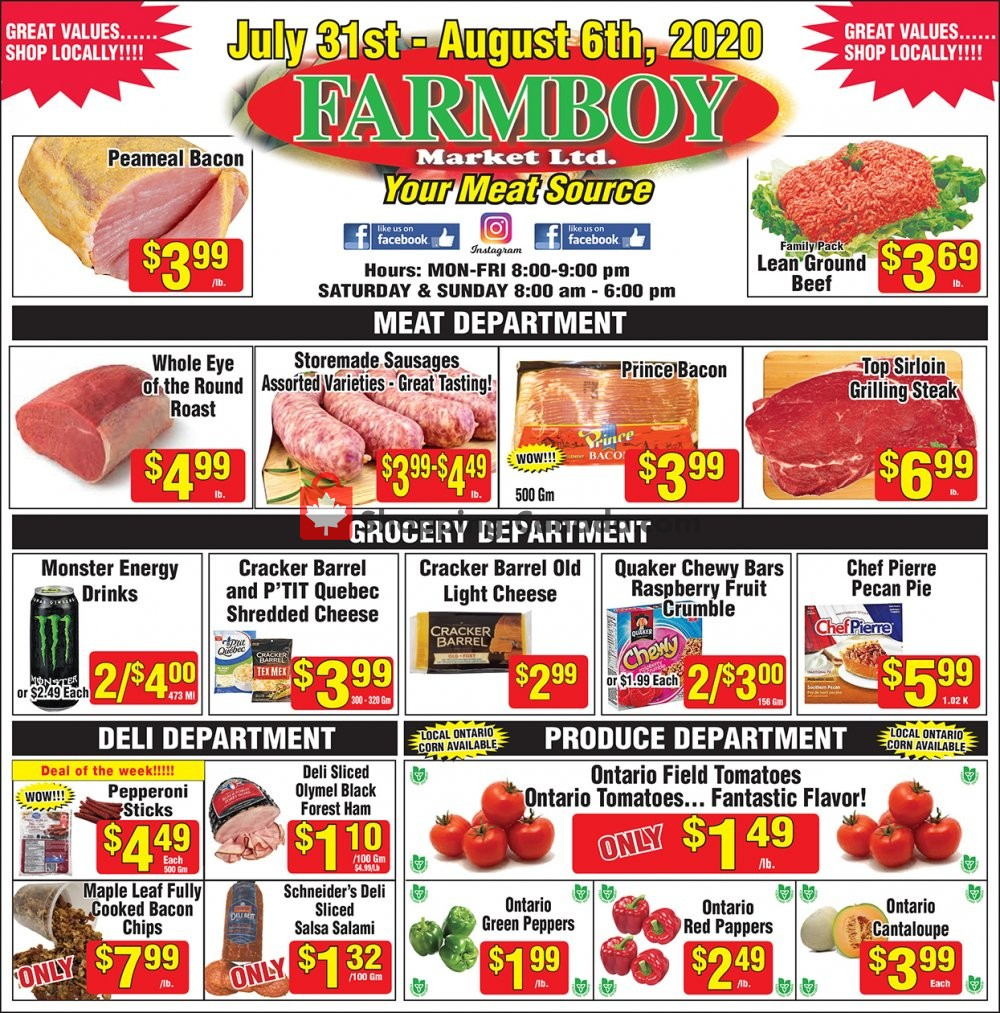 Flyer Farmboy Peterborough Canada - from Friday July 31, 2020 to Thursday August 6, 2020