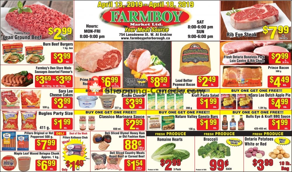 Flyer Farmboy Peterborough Canada - from Saturday April 13, 2019 to Thursday April 18, 2019