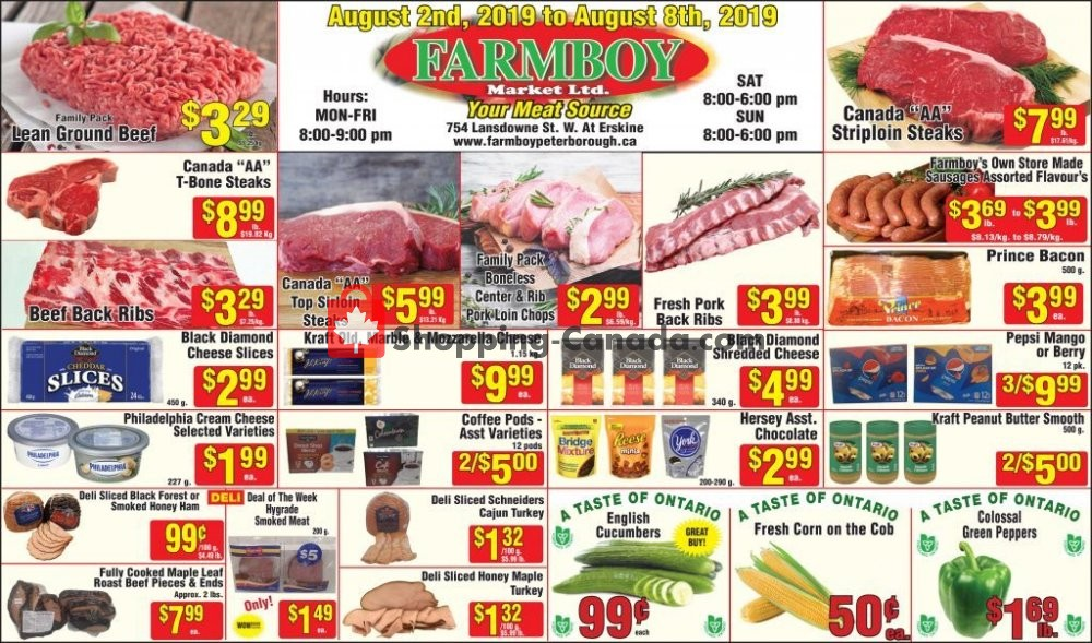 Flyer Farmboy Peterborough Canada - from Friday August 2, 2019 to Thursday August 8, 2019