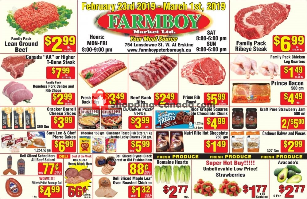 Flyer Farmboy Peterborough Canada - from Saturday February 23, 2019 to Friday March 1, 2019