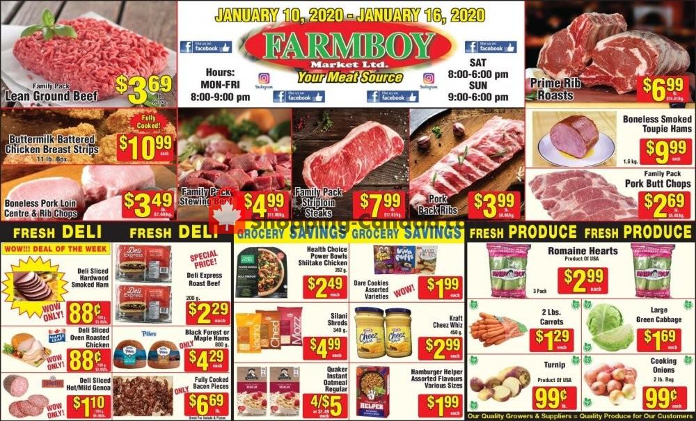Flyer Farmboy Peterborough Canada - from Friday January 10, 2020 to Thursday January 16, 2020