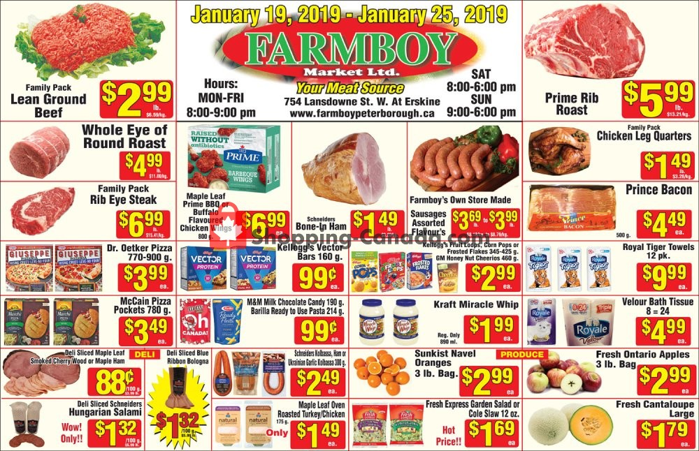 Flyer Farmboy Peterborough Canada - from Saturday January 19, 2019 to Friday January 25, 2019