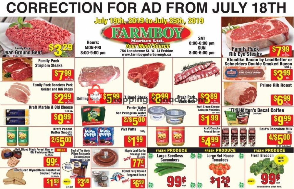 Flyer Farmboy Peterborough Canada - from Friday July 19, 2019 to Thursday July 25, 2019