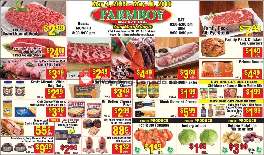 Flyer Farmboy Peterborough Canada - from Saturday May 4, 2019 to Friday May 10, 2019