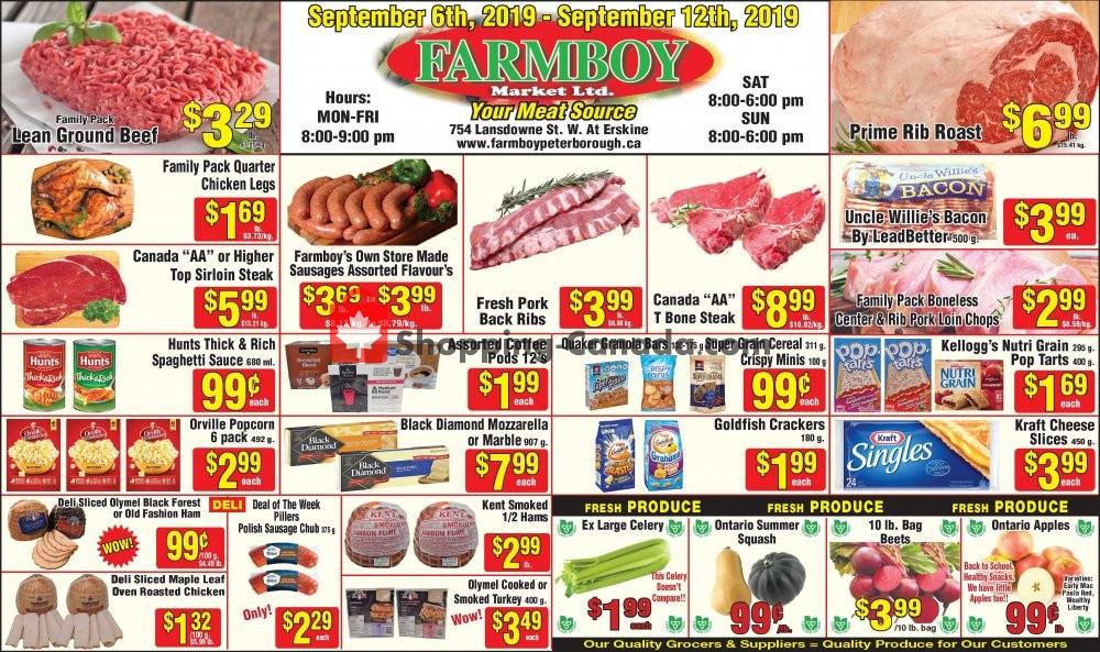 Flyer Farmboy Peterborough Canada - from Friday September 6, 2019 to Thursday September 12, 2019