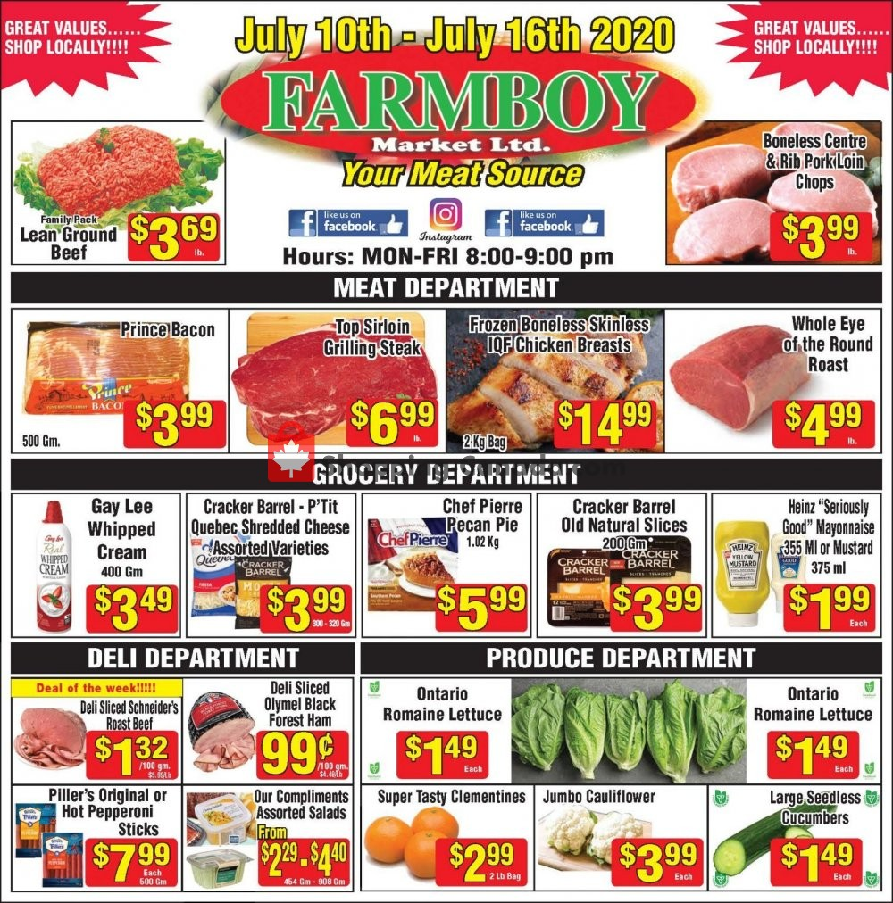Flyer Farmboy Peterborough Canada - from Friday July 10, 2020 to Thursday July 16, 2020