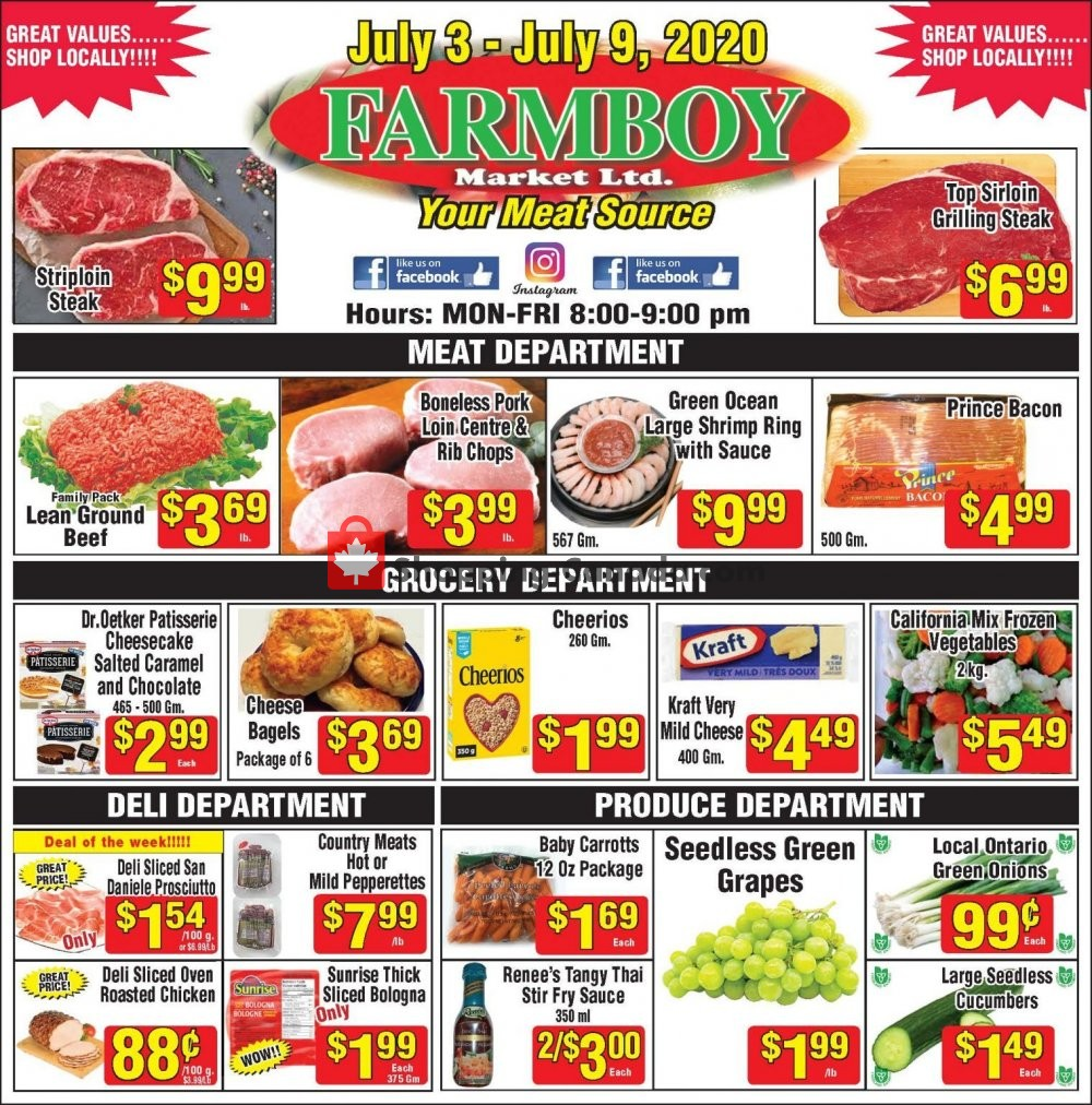 Flyer Farmboy Peterborough Canada - from Friday July 3, 2020 to Thursday July 9, 2020