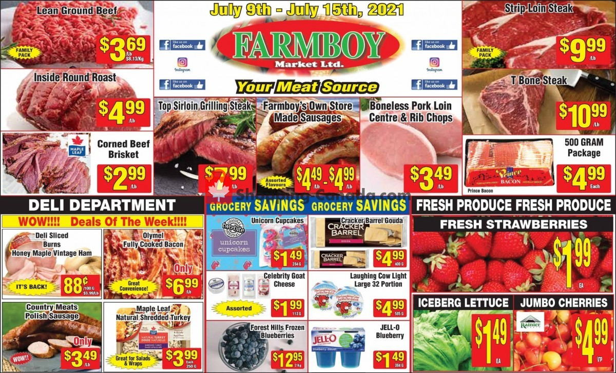 Flyer Farmboy Peterborough Canada - from Friday July 9, 2021 to Thursday July 15, 2021