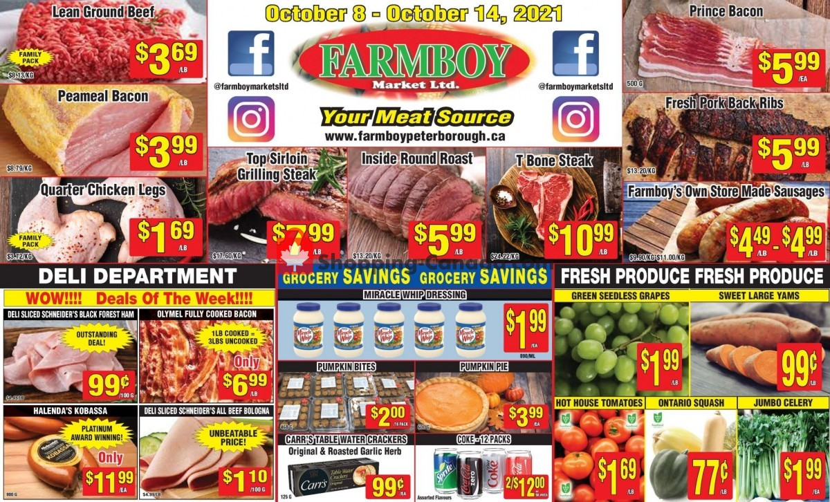 Flyer Farmboy Peterborough Canada - from Friday October 8, 2021 to Thursday October 14, 2021