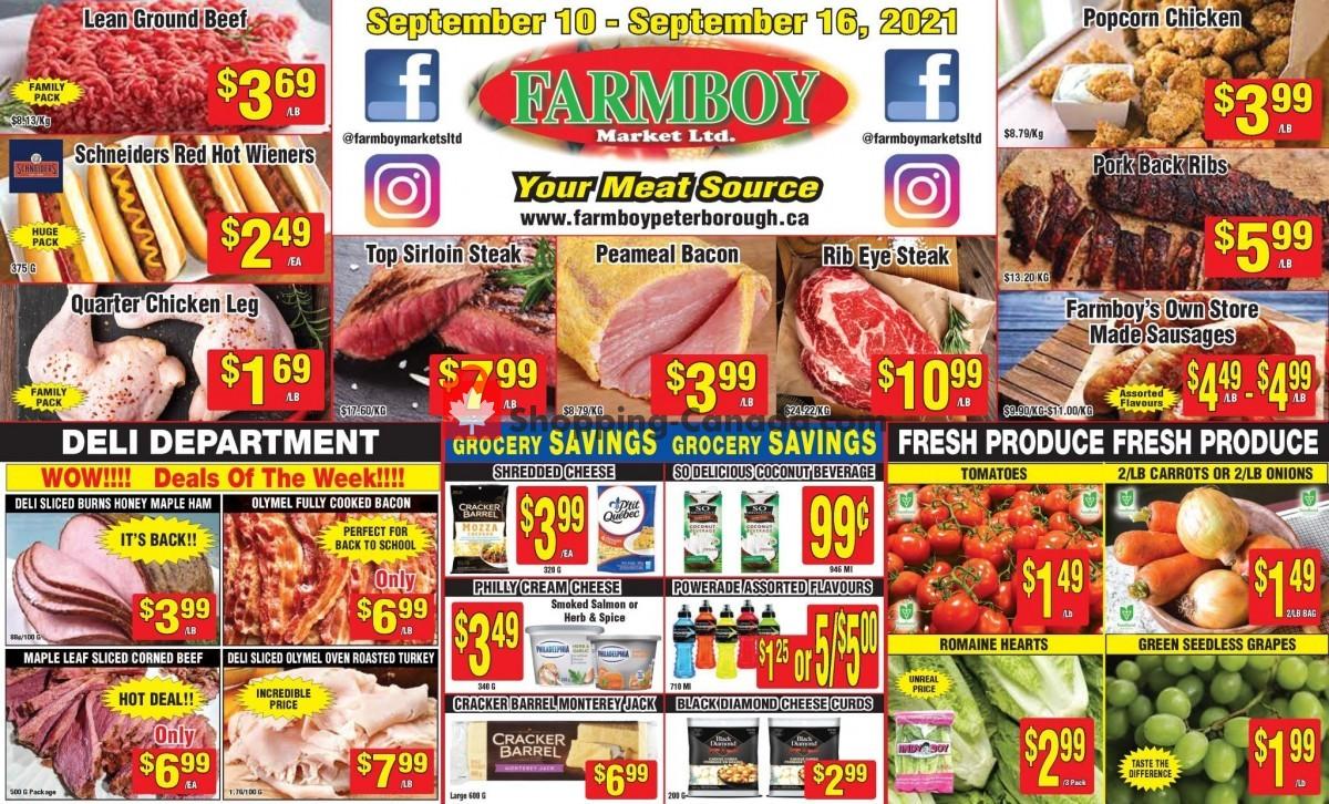 Flyer Farmboy Peterborough Canada - from Friday September 10, 2021 to Thursday September 16, 2021