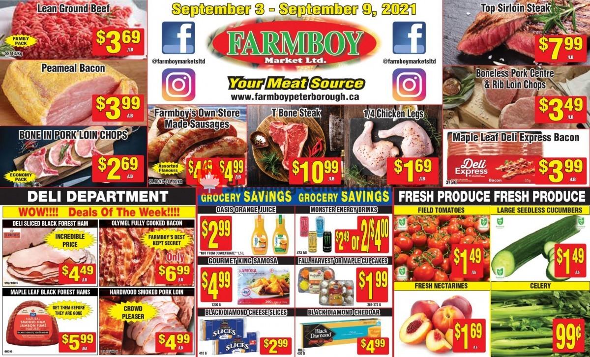 Flyer Farmboy Peterborough Canada - from Friday September 3, 2021 to Thursday September 9, 2021