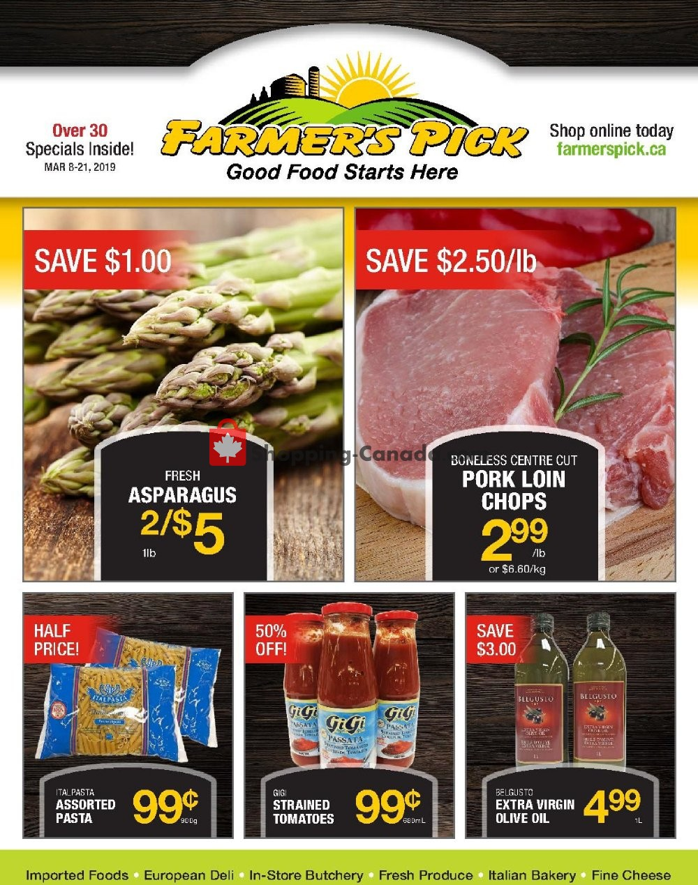 Flyer Farmers Pick Canada - from Friday March 8, 2019 to Thursday March 21, 2019