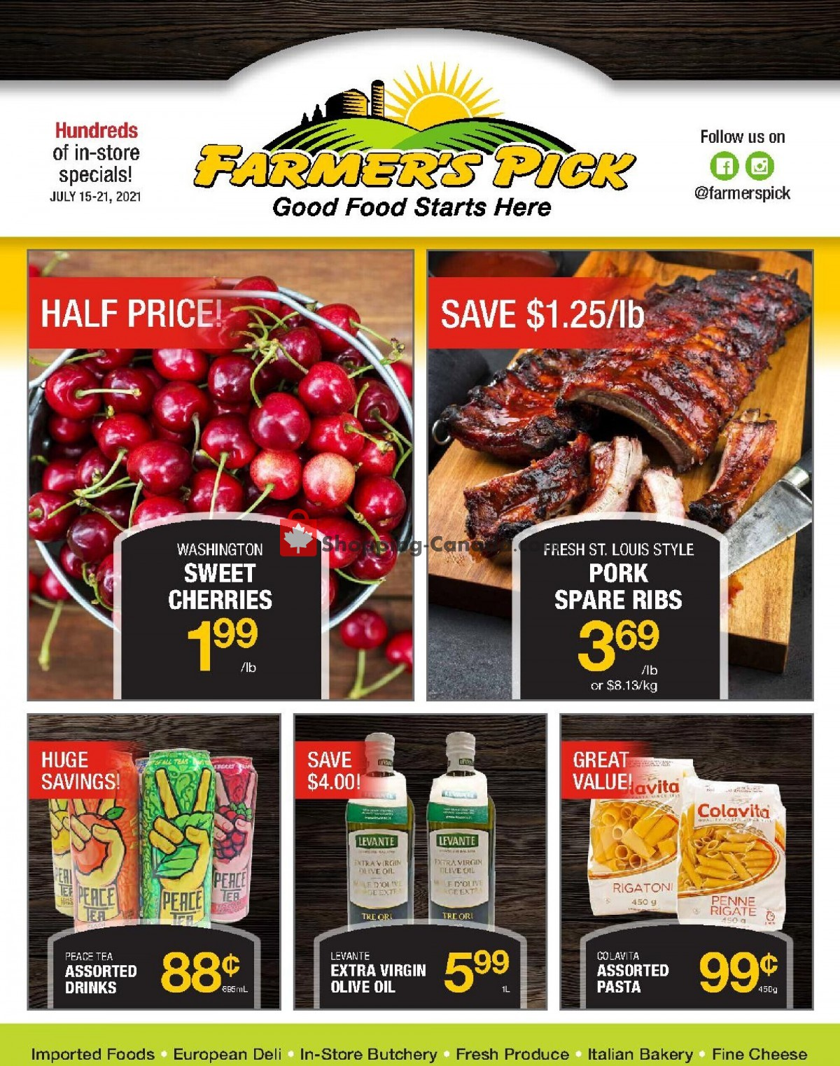 Flyer Farmers Pick Canada - from Thursday July 15, 2021 to Wednesday July 21, 2021