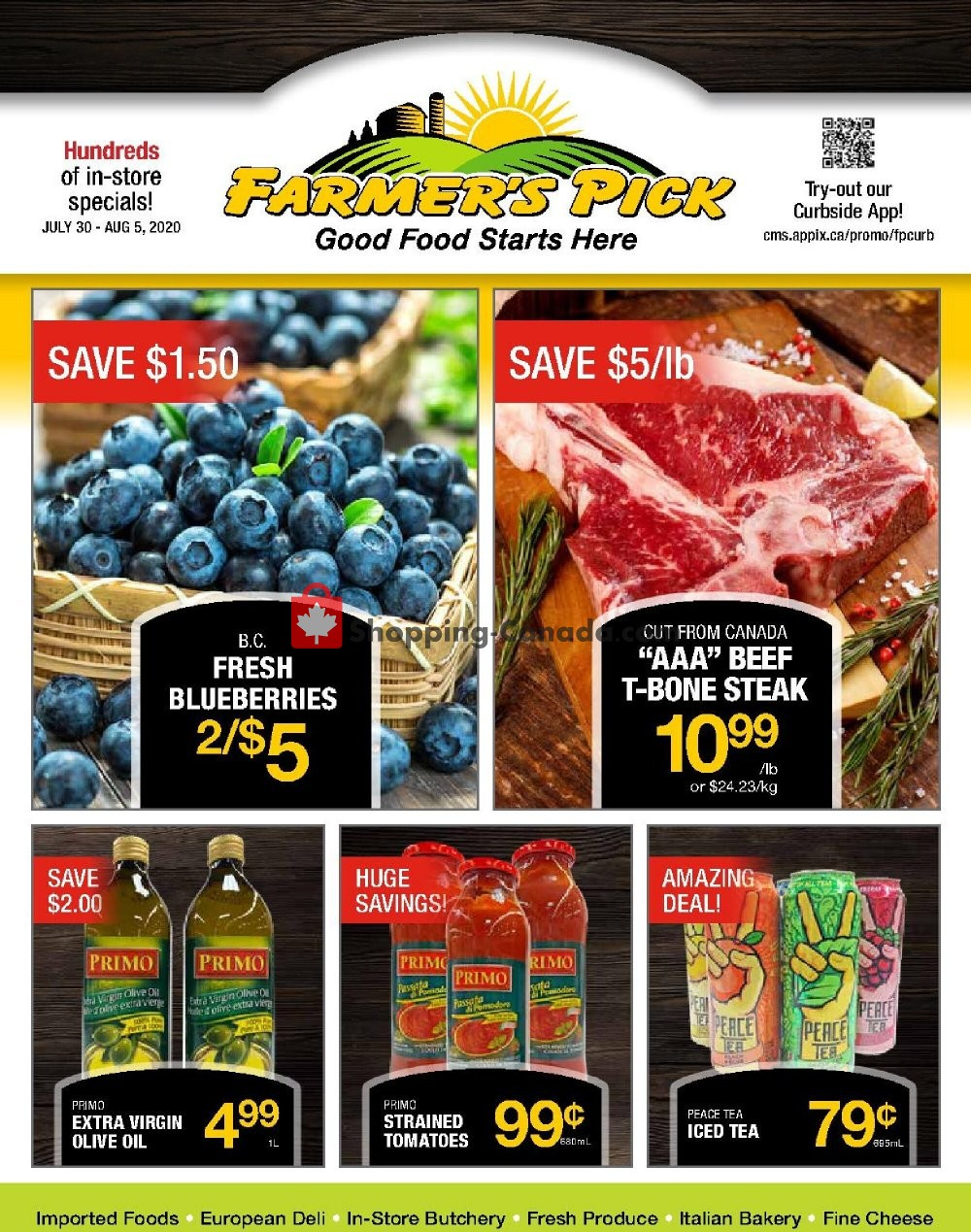 Flyer Farmers Pick Canada - from Thursday July 30, 2020 to Wednesday August 5, 2020