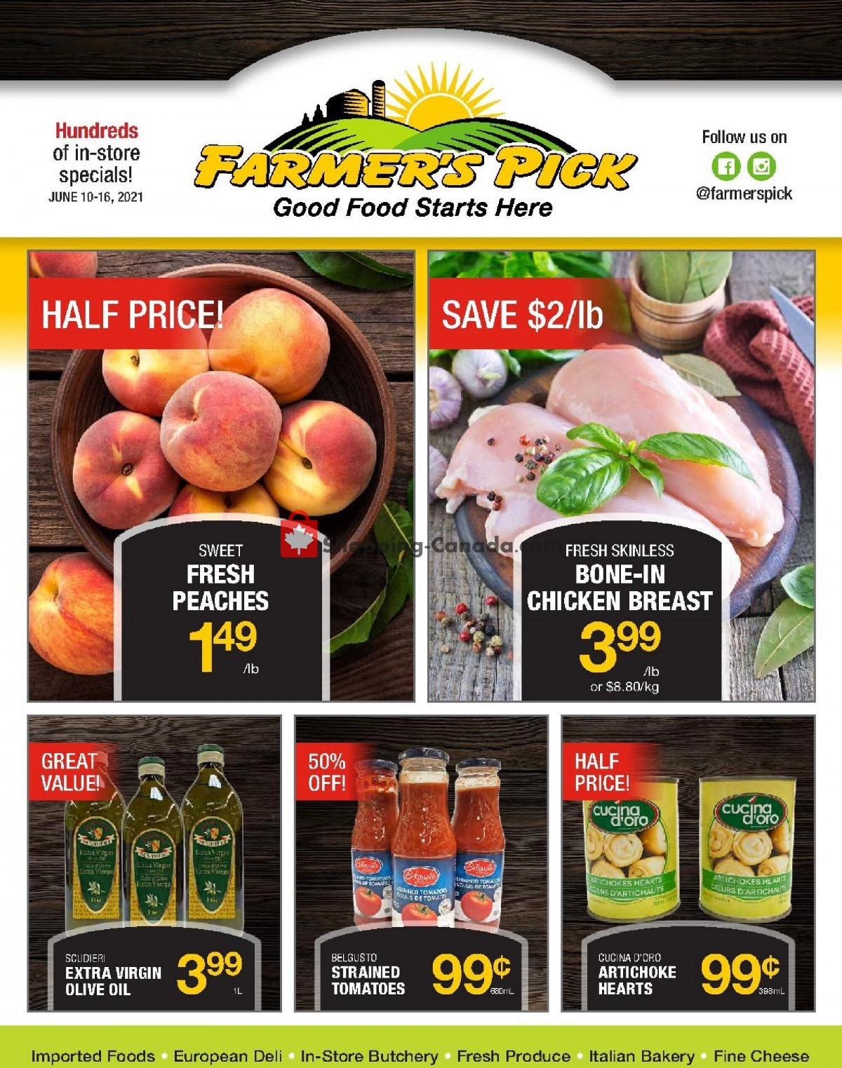 Flyer Farmers Pick Canada - from Thursday June 10, 2021 to Wednesday June 16, 2021
