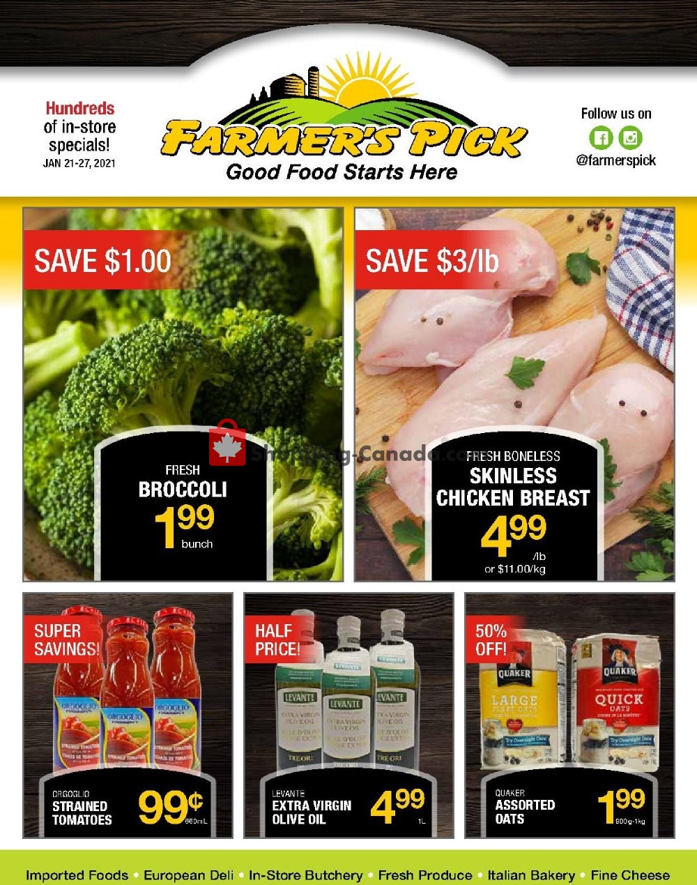 Flyer Farmers Pick Canada - from Thursday January 21, 2021 to Wednesday January 27, 2021