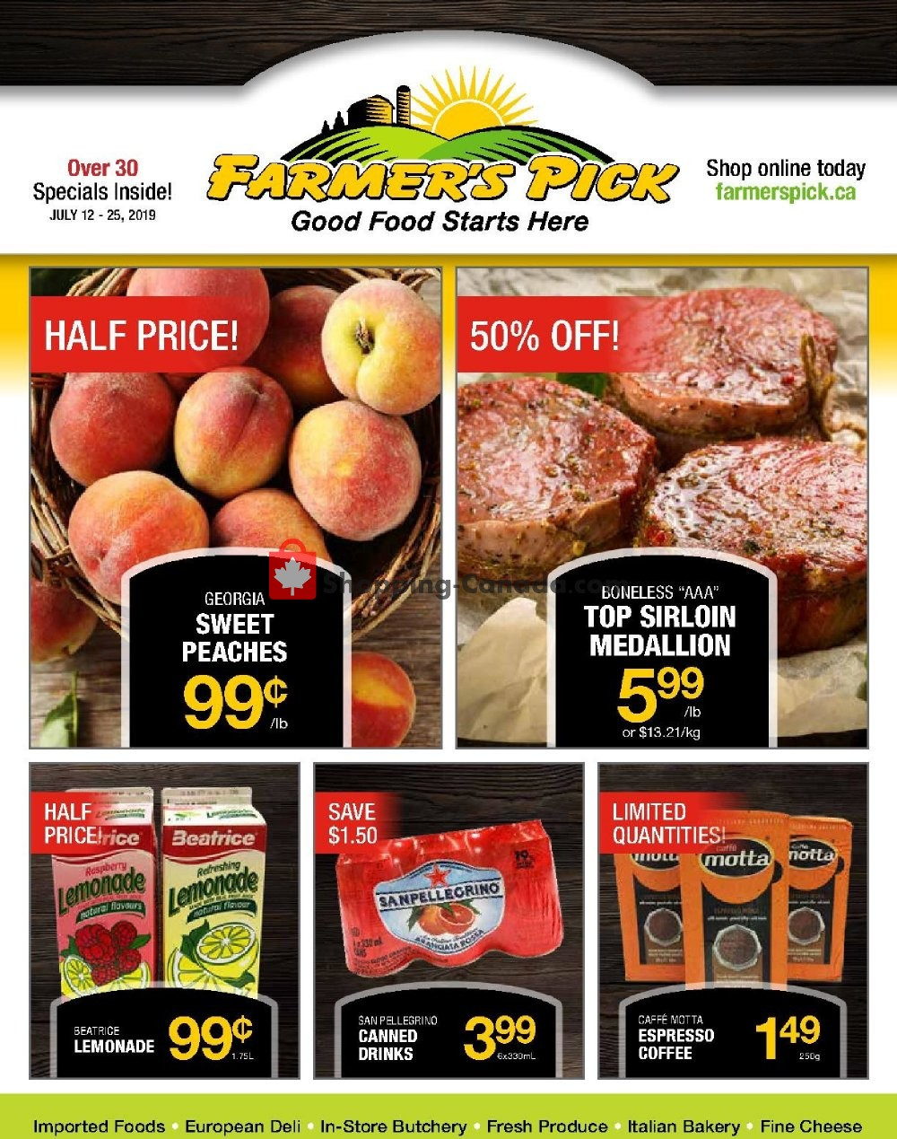 Flyer Farmers Pick Canada - from Friday July 12, 2019 to Thursday July 25, 2019