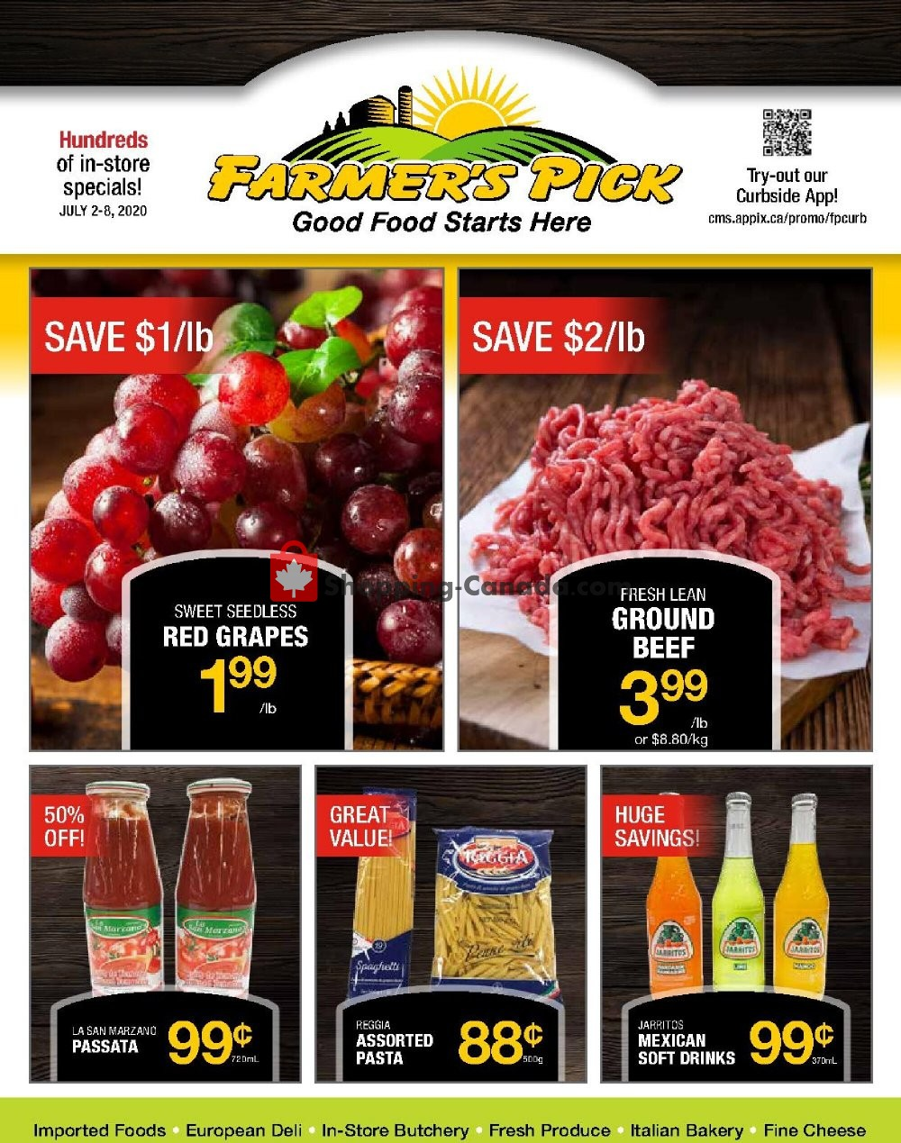 Flyer Farmers Pick Canada - from Thursday July 2, 2020 to Wednesday July 8, 2020