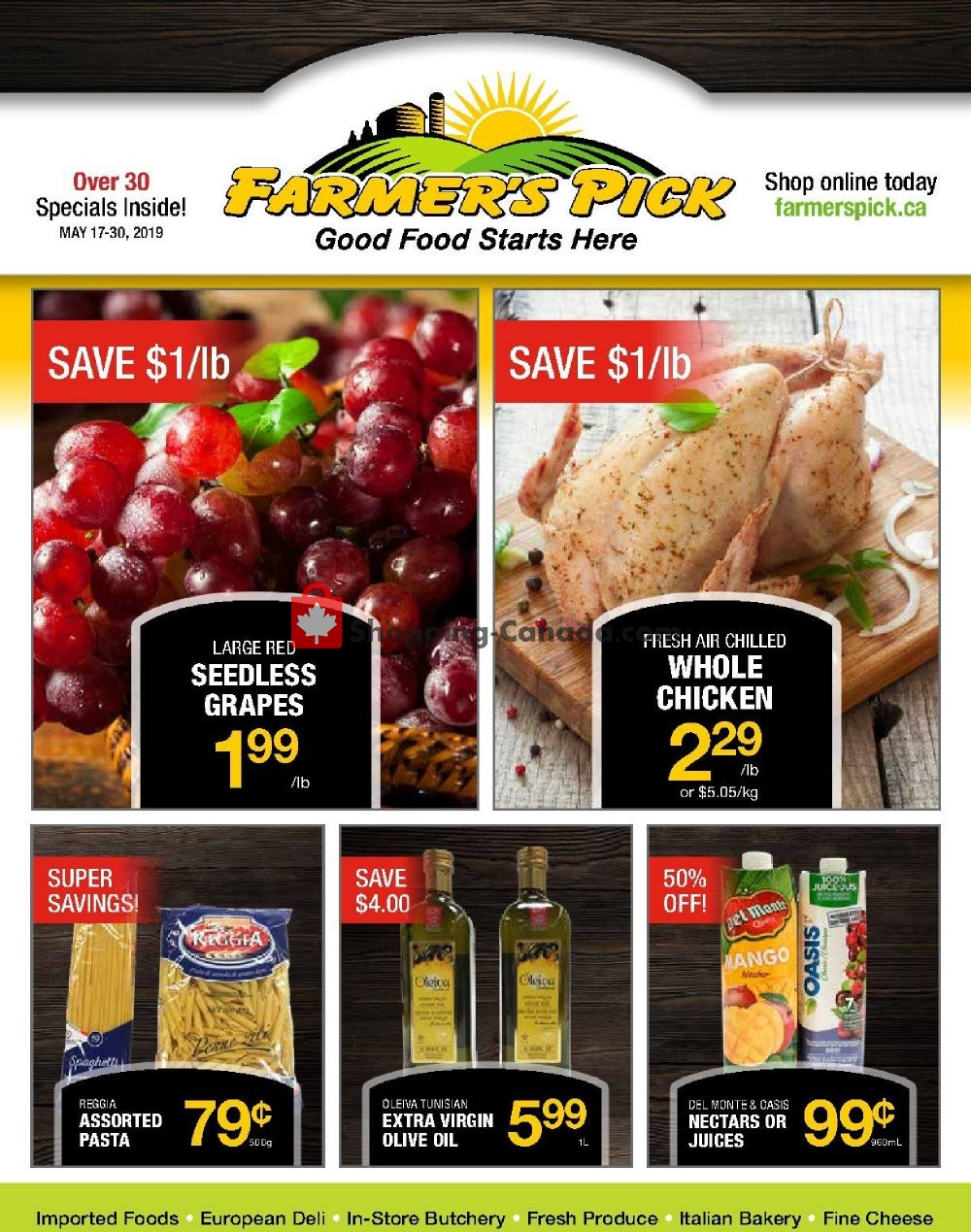 Flyer Farmers Pick Canada - from Friday May 17, 2019 to Thursday May 30, 2019