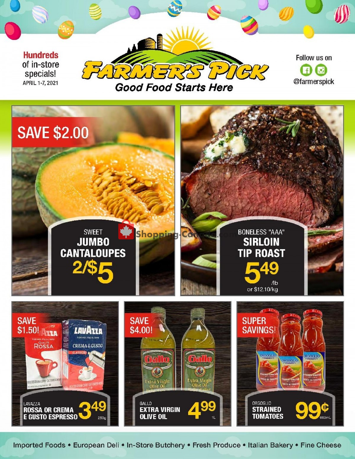 Flyer Farmers Pick Canada - from Thursday April 1, 2021 to Wednesday April 7, 2021
