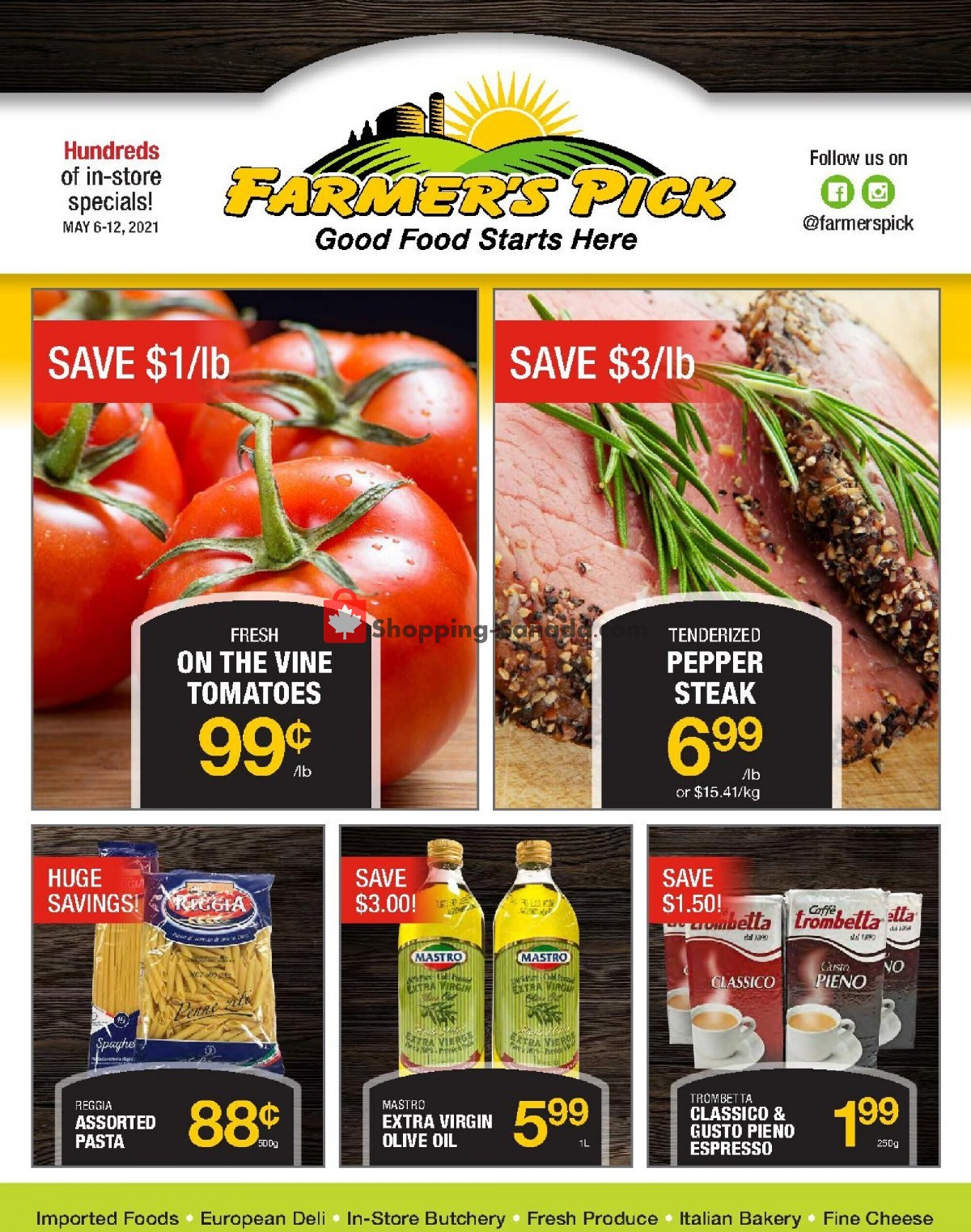 Flyer Farmers Pick Canada - from Thursday May 6, 2021 to Wednesday May 12, 2021