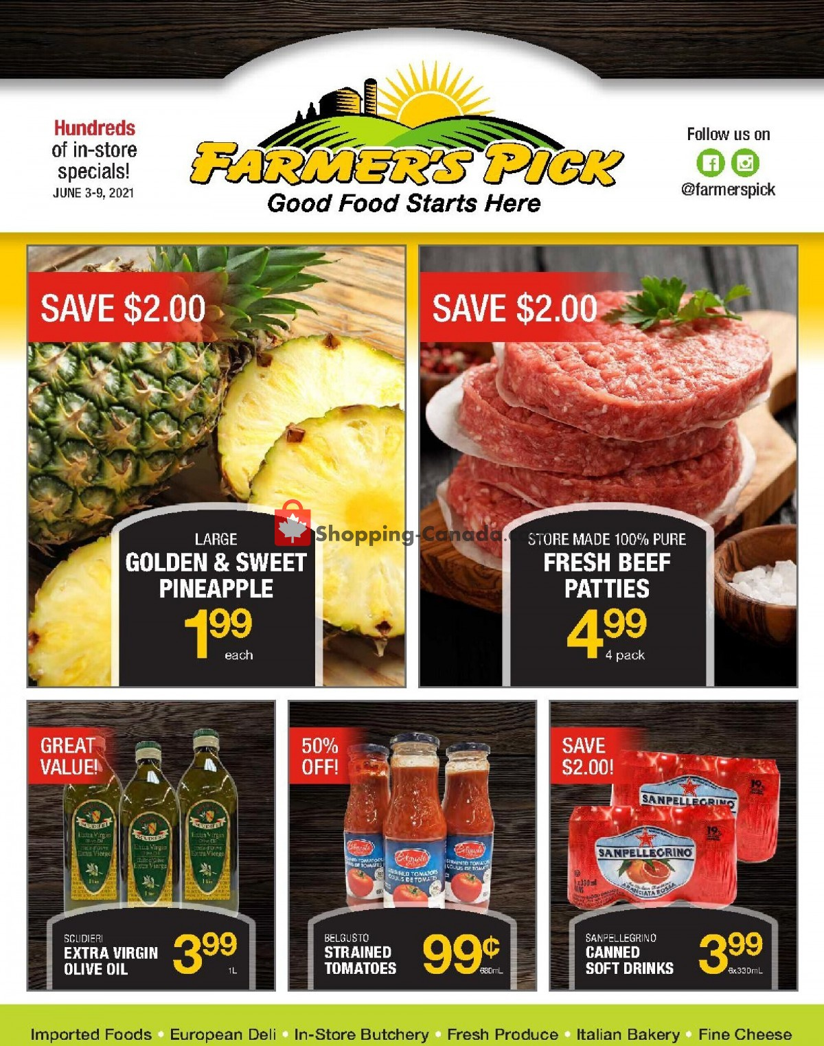Flyer Farmers Pick Canada - from Thursday June 3, 2021 to Wednesday June 9, 2021