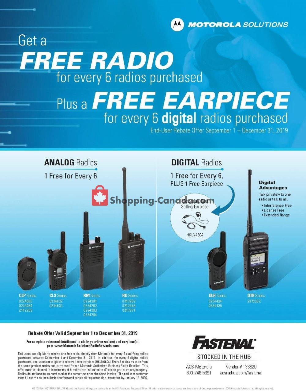 Flyer Fastenal Canada - from Sunday September 1, 2019 to Tuesday December 31, 2019