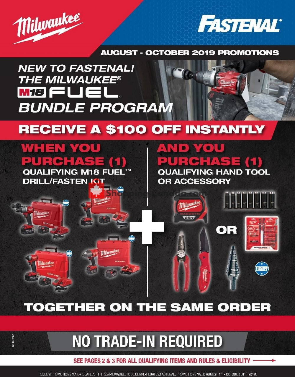 Flyer Fastenal Canada - from Thursday August 1, 2019 to Thursday October 31, 2019