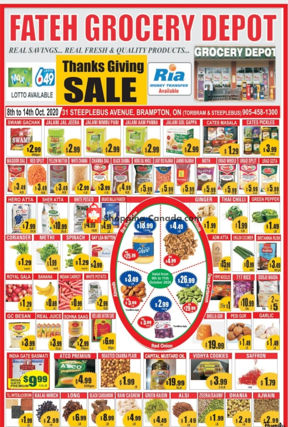 Flyer Fateh Grocery Depot Canada - from Thursday October 8, 2020 to Wednesday October 14, 2020