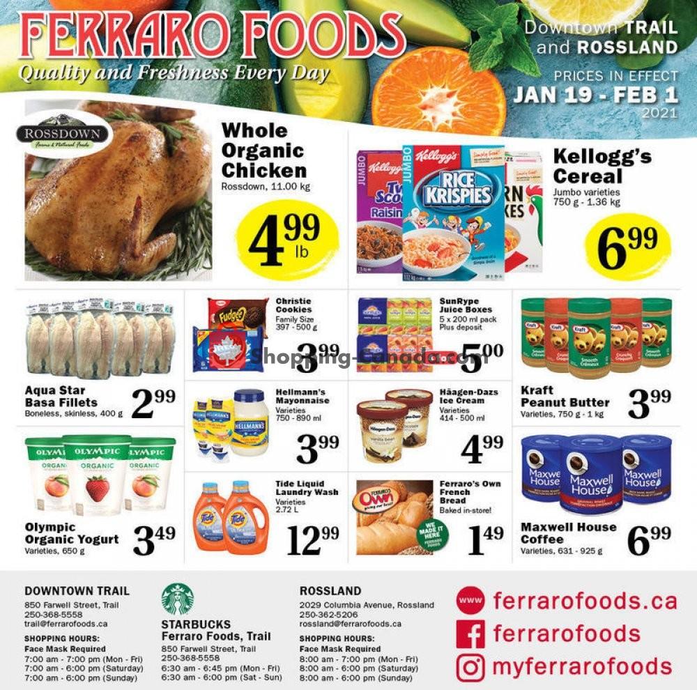 Flyer Ferraro Foods Canada - from Tuesday January 19, 2021 to Monday February 1, 2021