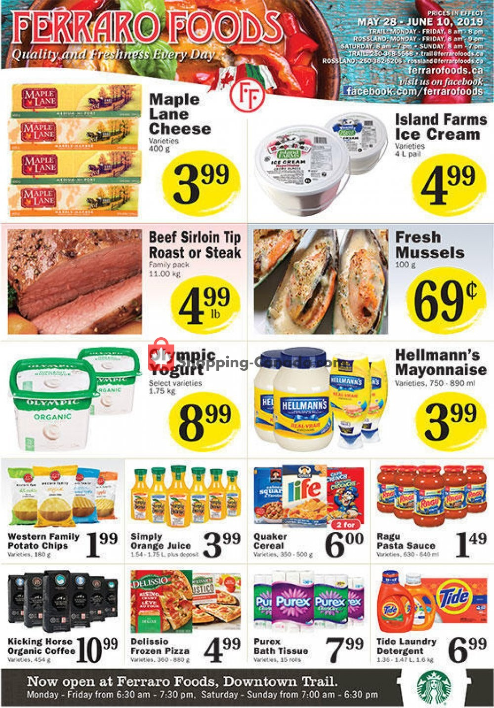 Flyer Ferraro Foods Canada - from Tuesday May 28, 2019 to Monday June 10, 2019