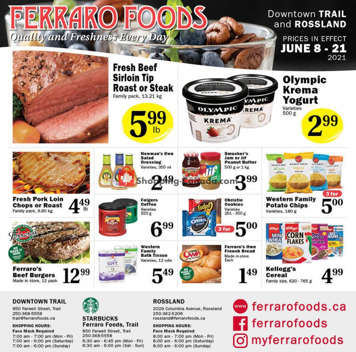 Flyer Ferraro Foods Canada - from Tuesday June 8, 2021 to Monday June 21, 2021