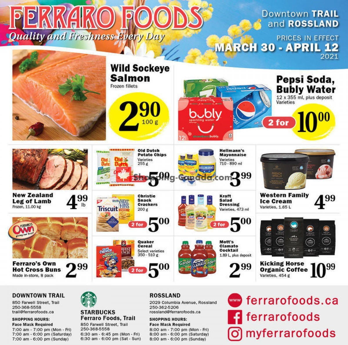 Flyer Ferraro Foods Canada - from Tuesday March 30, 2021 to Monday April 12, 2021