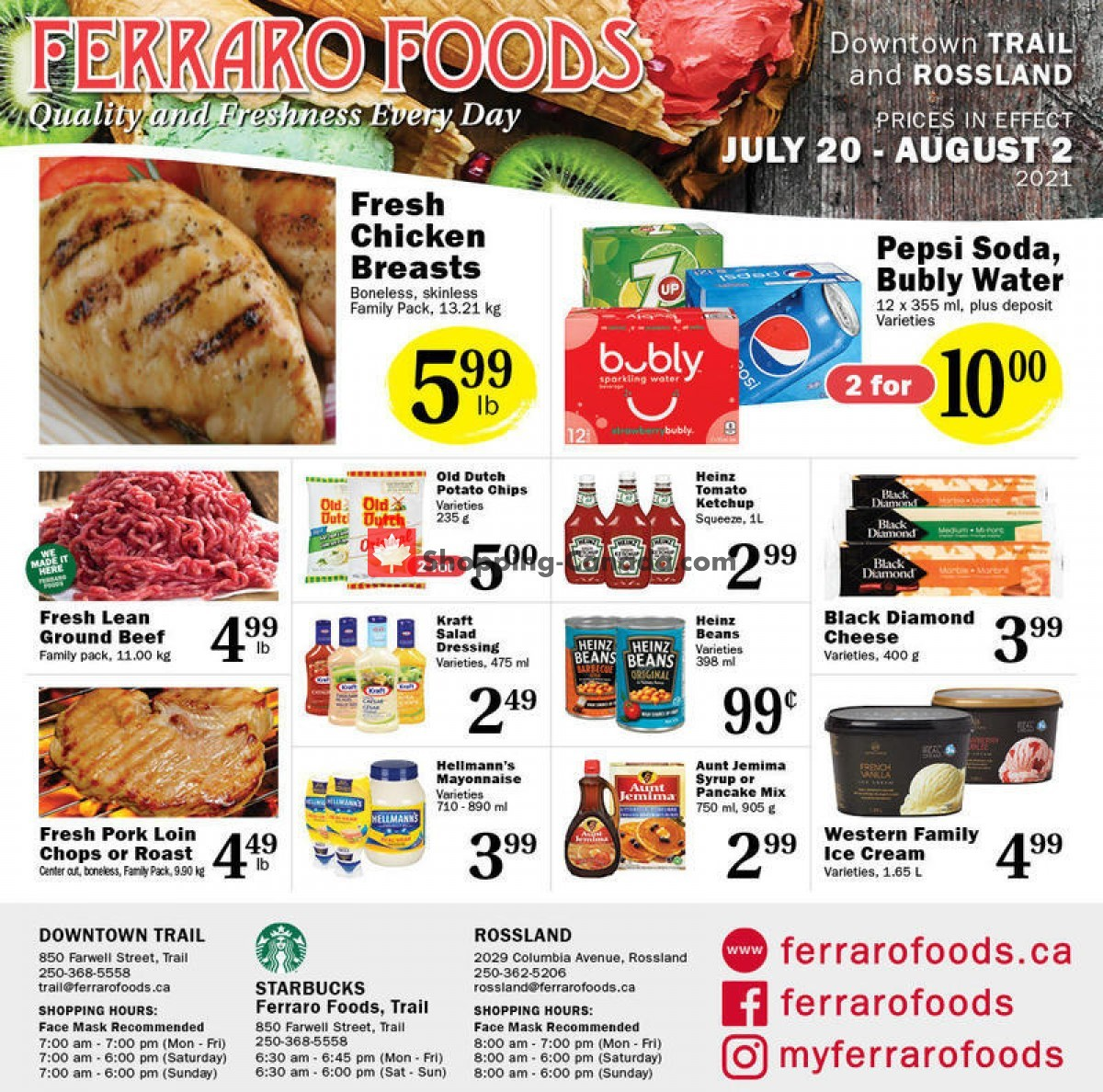 Flyer Ferraro Foods Canada - from Tuesday July 20, 2021 to Monday August 2, 2021