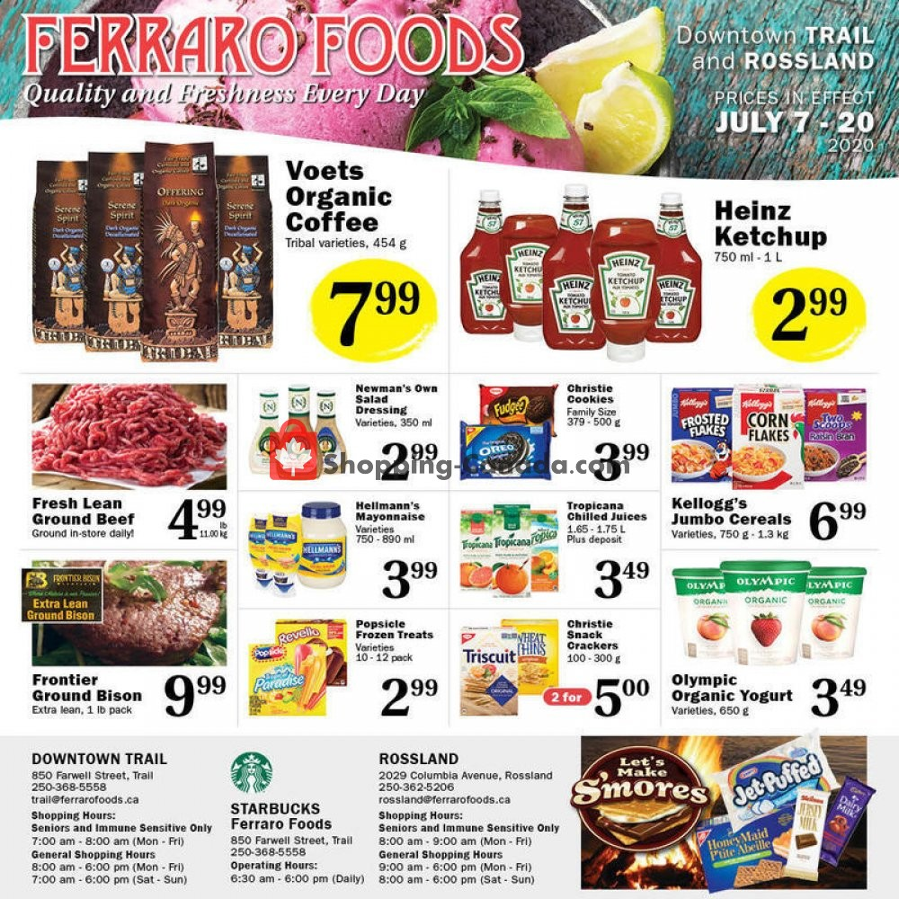 Flyer Ferraro Foods Canada - from Tuesday July 7, 2020 to Monday July 20, 2020