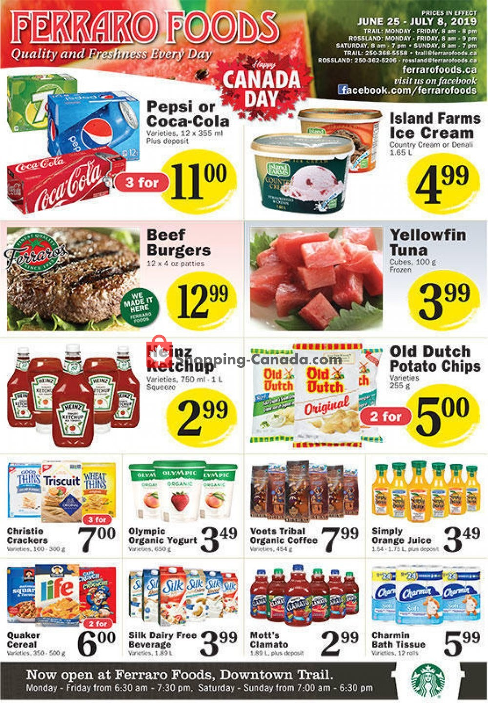 Flyer Ferraro Foods Canada - from Tuesday June 25, 2019 to Monday July 8, 2019
