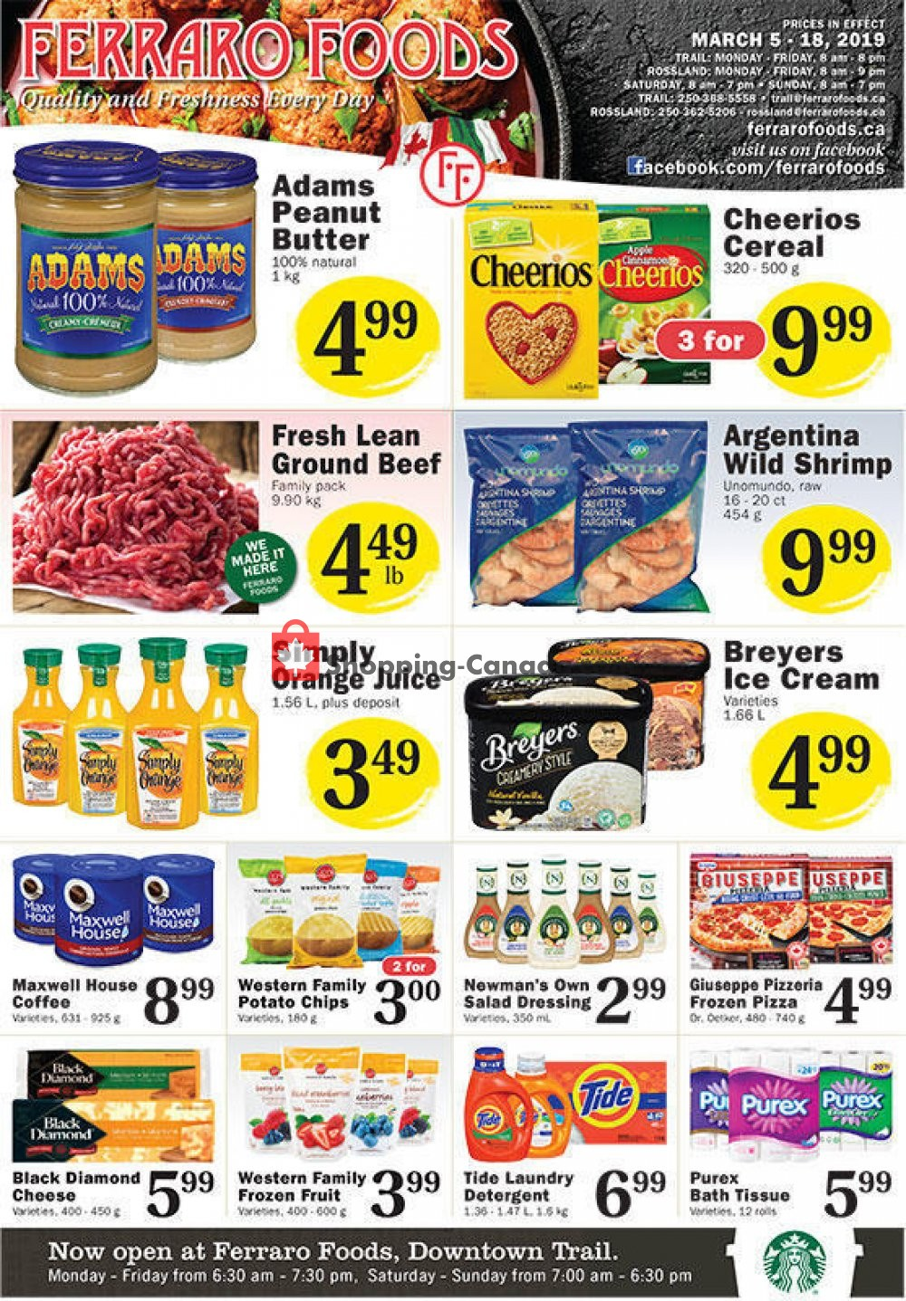 Flyer Ferraro Foods Canada - from Tuesday March 5, 2019 to Monday March 18, 2019