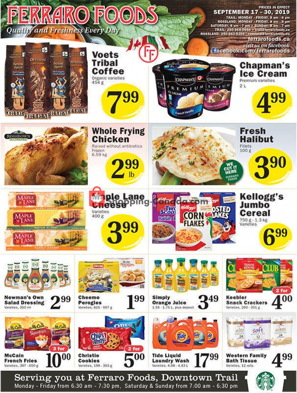 Flyer Ferraro Foods Canada - from Tuesday September 17, 2019 to Monday September 30, 2019