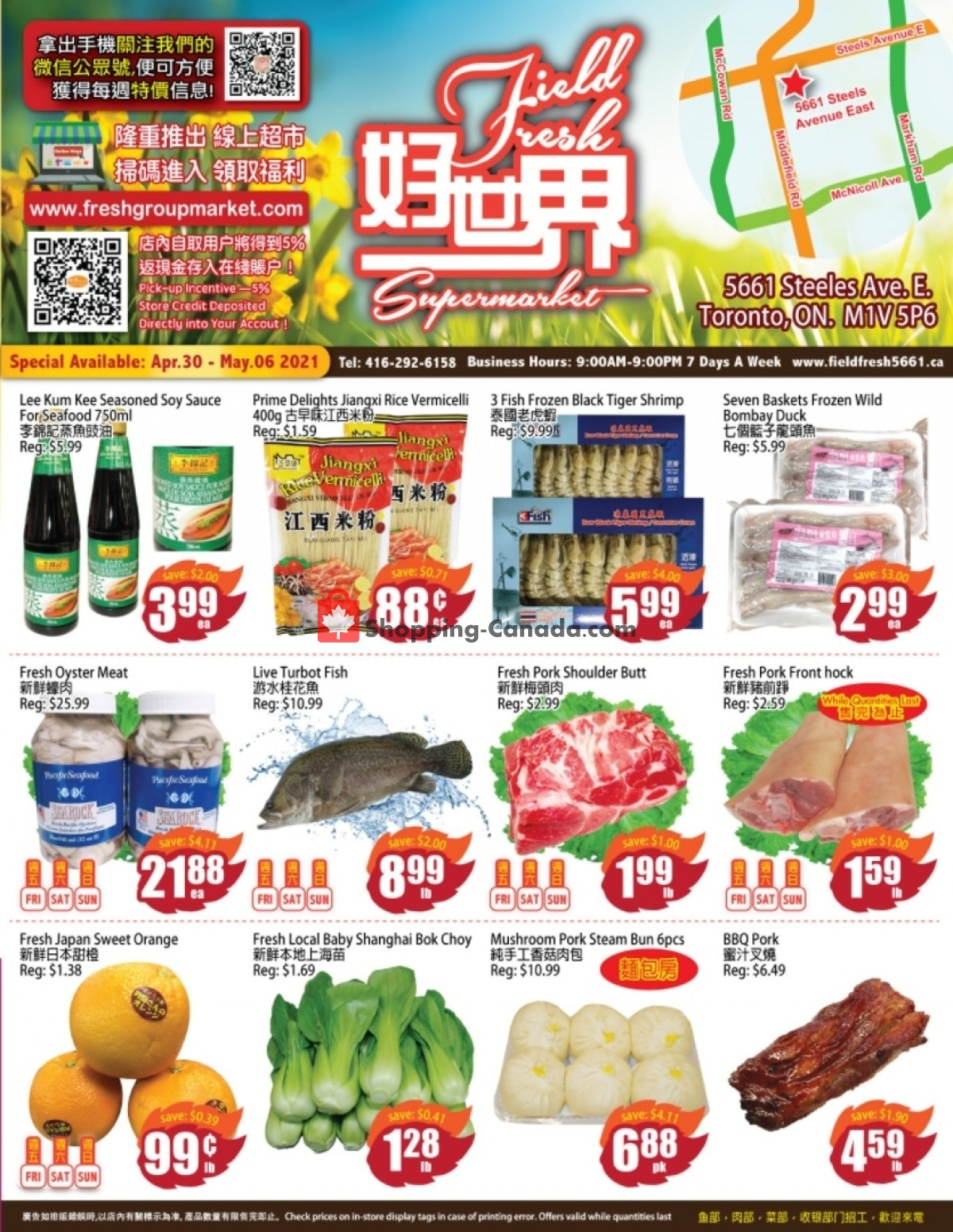 Flyer Field Fresh Supermarket Canada - from Friday April 30, 2021 to Thursday May 6, 2021