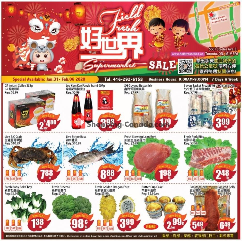 Flyer Field Fresh Supermarket Canada - from Friday January 31, 2020 to Thursday February 6, 2020
