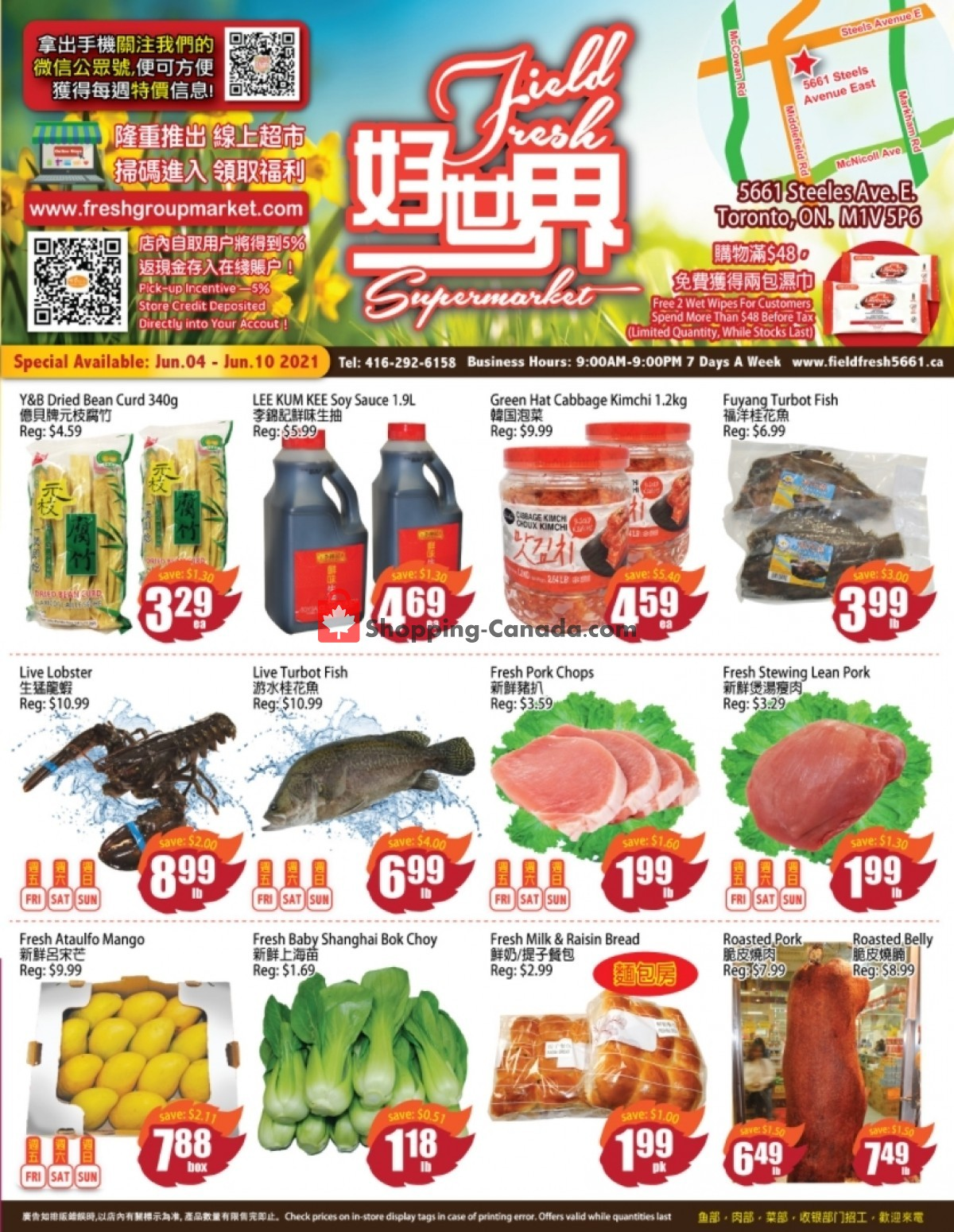 Flyer Field Fresh Supermarket Canada - from Friday June 4, 2021 to Thursday June 10, 2021